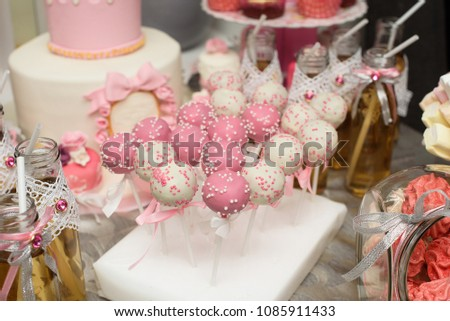 Dessert Table Party Food Decoration Stockfoto Jetzt Bearbeiten