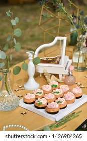 Destination  wedding ceremony cakes table setup