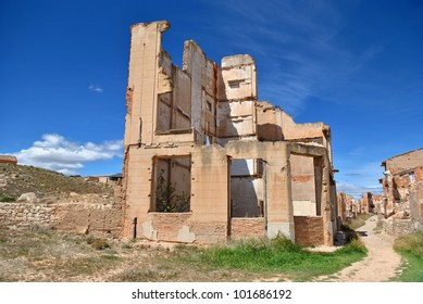 Destroyed building in Belchite