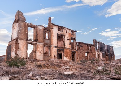 Destroyed building in Belchite, Spain