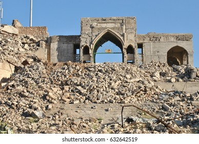 Destroyed grave of Prophet Jonah, Iraq, Mosul