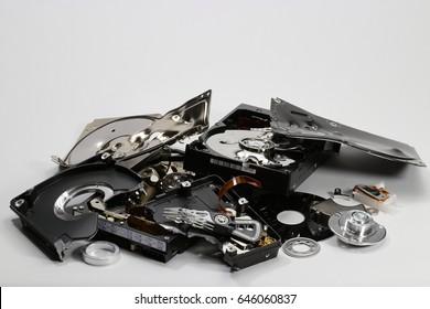 Destroyed hard disk drive