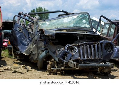 destroyed jeep