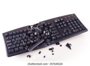 Destroyed keyboard which will never work again