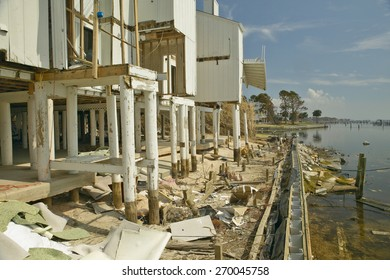 Destroyed oceanside condos from Hurricane Ivan in Pensacola Florida