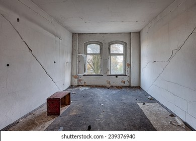 Destroyed room inside the old building