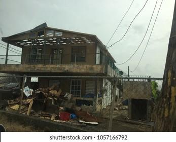 destruction after hurricane maria