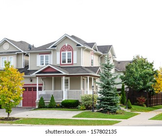 Detached family home in suburban development