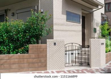 Detached house entrance approach Outer structure design