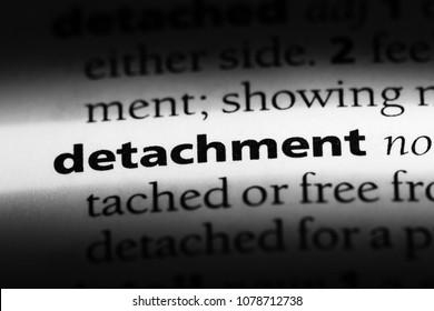 detachment word in a dictionary. detachment concept