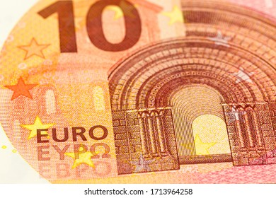 detail of a 10 euro bank note obverse