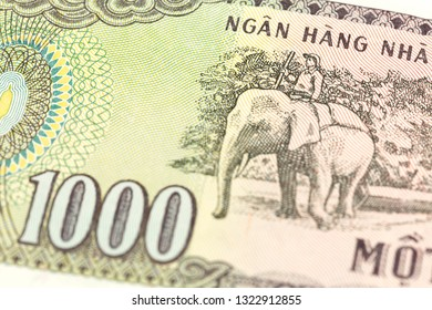 detail of a 1000 vietnamese dong bank note reverse