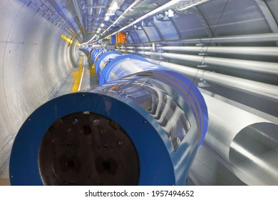 A detail of the accelerometer sites at Cern in Geneve - Shutterstock ID 1957494652