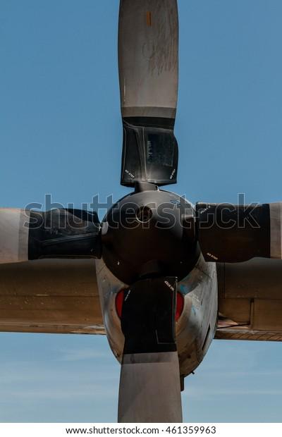 Detail of airplane propellers