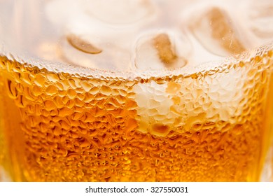 detail of an alcoholic beverage close