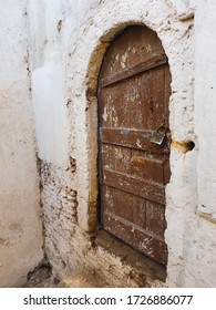 Detail of ancient door captured on the street of casbah , Algiers , Algeria