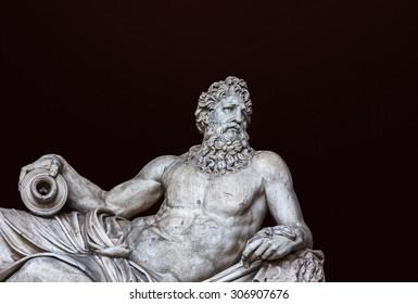 Detail of the ancient River Tiber sculpture