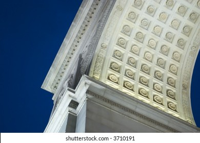 A detail of the arch in Washington Square Park, NYC