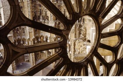 Detail of an architechtual element of the Sagrada Familia