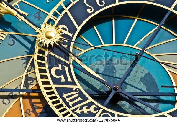 detail of the astronomical clock in Prague