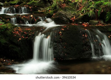 detail of autumn forest waterfall - Shutterstock ID 39610534