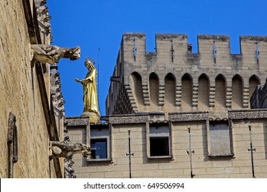 Detail of Avignon Palace, Avignon, France