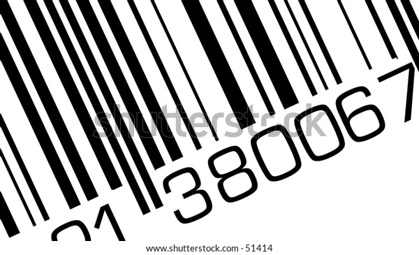 Detail of a barcode.