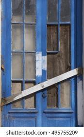 Detail of a barricaded blue house door & Barricaded Door Images Stock Photos u0026 Vectors | Shutterstock