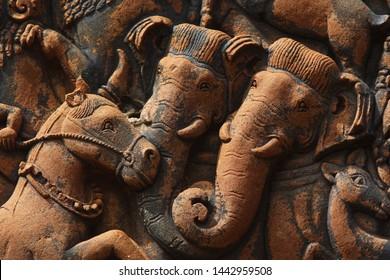 Detail from bas-relief at Angkor Wat, Cambodia