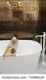 detail of bath room in contemporary style