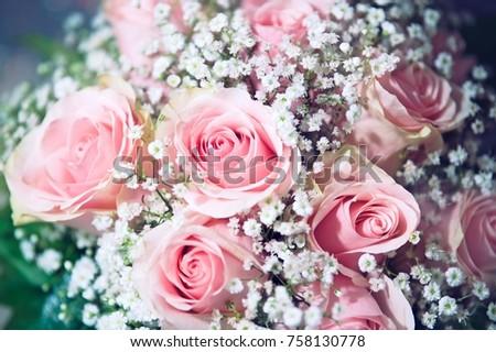 Detail Beautiful Wedding Bouquet Nice Pink Stock Photo Edit Now