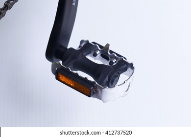 detail of bicycle pedal