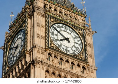 Detail of Big Ben Tower's, Big Ben is the nickname for the great bell of the clock at the north end of the Palace of Westminster in London