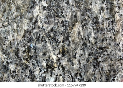 Detail of black granite polished surface