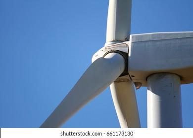 Detail of blades of wind generator