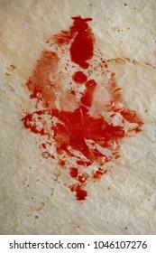 Detail of blood splatter