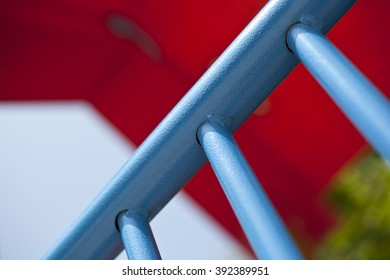 Detail of blue bar
