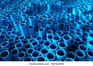 detail blue pipe for background
