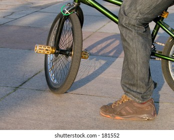 A detail from a BMX bicycle show