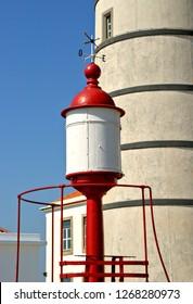 Detail of Boa Nova Lighthouse in Matosinhos, Portugal