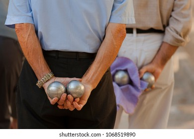 Detail of Boules Players in France