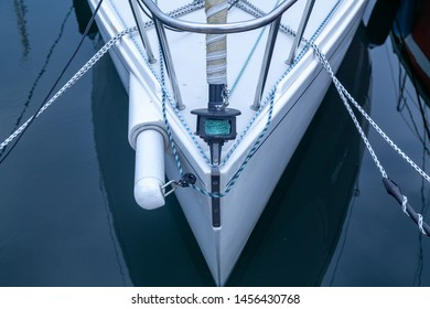 Detail of a bow of a sailing boat