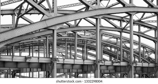Detail of a bridge, Hamburg, Germany