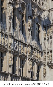 Detail of Brussels Town Hall, Belgium