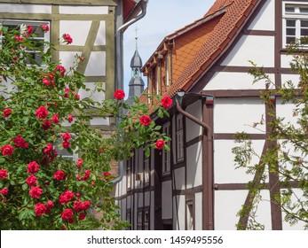 detail of a building detmold in east Westphalia