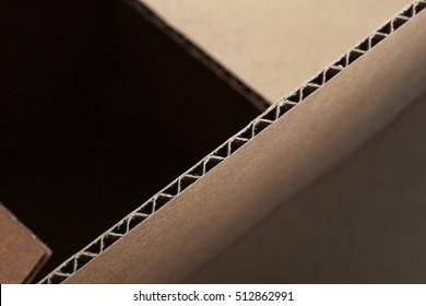 Detail of cardboard box