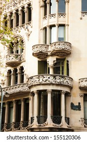 Detail of Casa Lleo Morera, built in 1902�¢??1906 by Catalan architect Domenech i Montaner. Barcelona