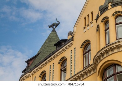 Detail of Cat House in the center of Riga, Latvia