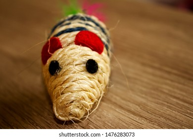 detail of cat toy mouse