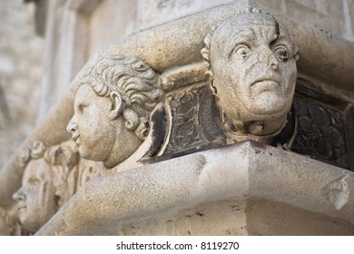 Detail of the Cathedral of St James.  UNESCO World Heritage Site. - Sibenik, Croatia.